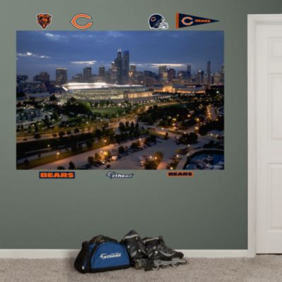 Outside Busch Stadium Mural Fathead Wall Decal