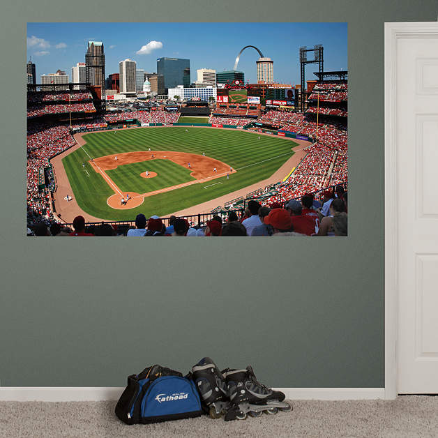 inside busch stadium mural wall decal shop fathead for