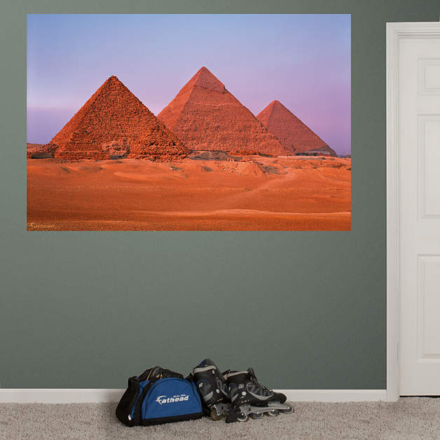 Egyptian pyramids mural fathead wall decal for Egyptian wall mural