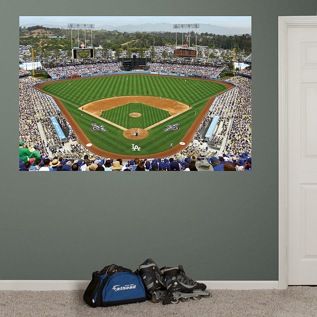 inside dodger stadium mural wall decal shop fathead for ForDodger Stadium Wall Mural