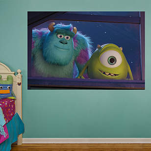 Mike and Sulley Window Mural