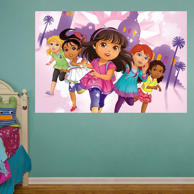 Dora friends mural fathead wall decal for Dora wall mural