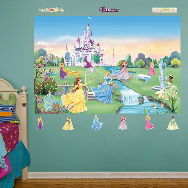 1 877 328 8877 for Disney princess castle mural