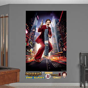 Anchorman 2 Ron Burgundy Skyscraper Mural