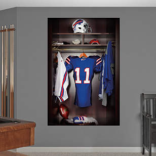 Buffalo Bills Locker Mural