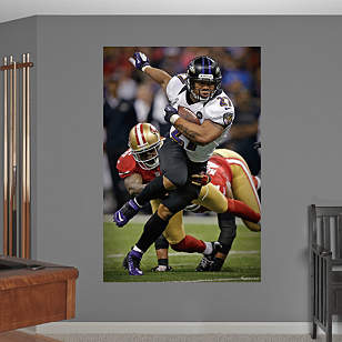 Ray Rice Super Bowl XLVII Rush Mural
