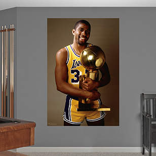 Magic Johnson Trophy Mural