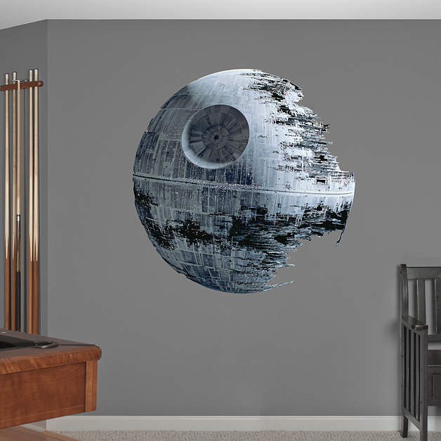 Death star fathead wall decal for Death star wall mural