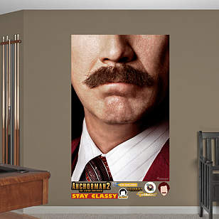 Ron Burgundy Moustache Mural