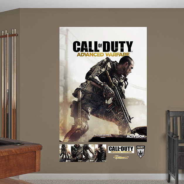 call of duty advanced warfare cover mural wall decal shop fathead for call of duty decor. Black Bedroom Furniture Sets. Home Design Ideas