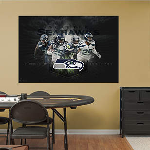 Seattle Seahawks Secondary Mural