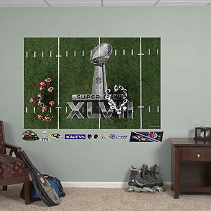 Baltimore Ravens Super Bowl XLVII Overhead Huddle Mural