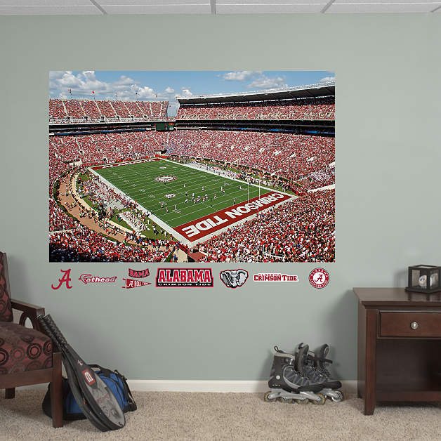 alabama crimson tide bryant denny stadium mural wall decal. Black Bedroom Furniture Sets. Home Design Ideas
