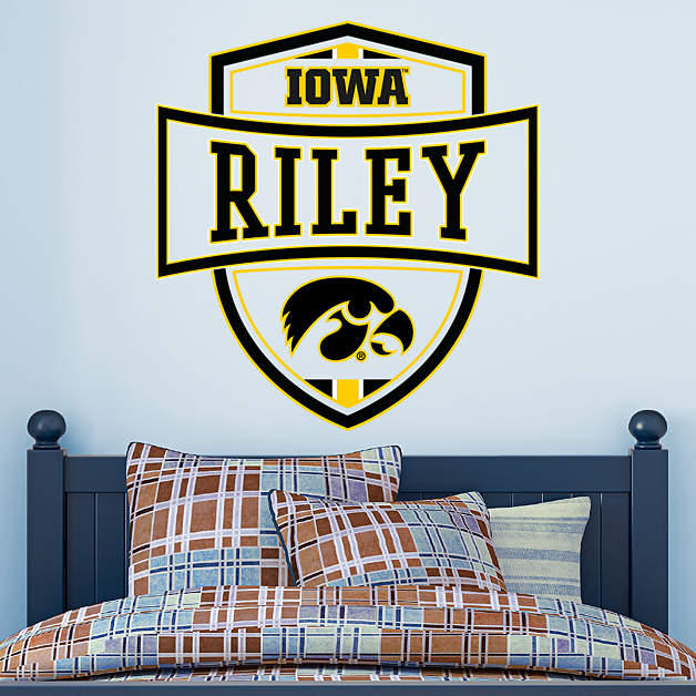 Iowa hawkeyes personalized name wall decal shop fathead for Iowa hawkeye decor