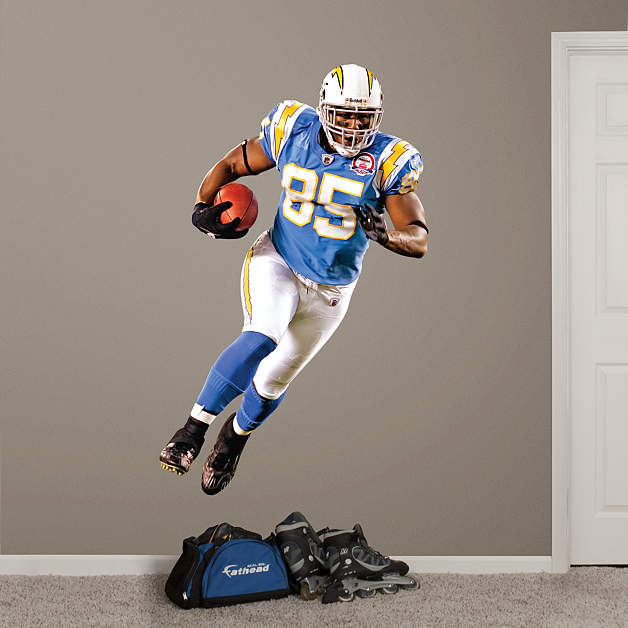 San Diego Chargers Art: Antonio Gates AFL Fathead Wall Decal