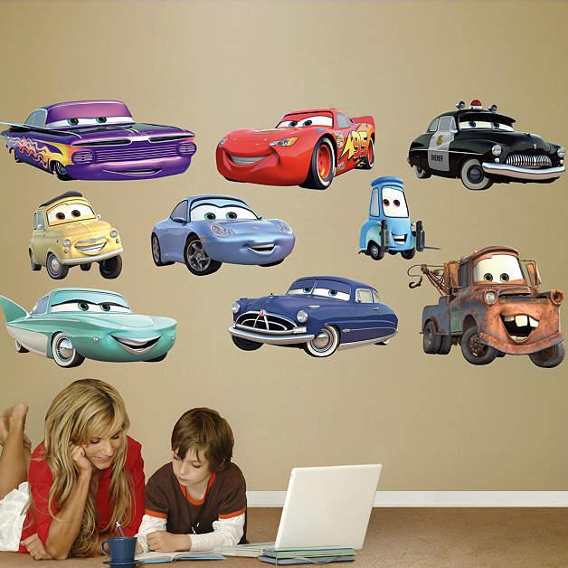 Disney pixar cars collection wall decal shop fathead for Disney pixar cars wall mural
