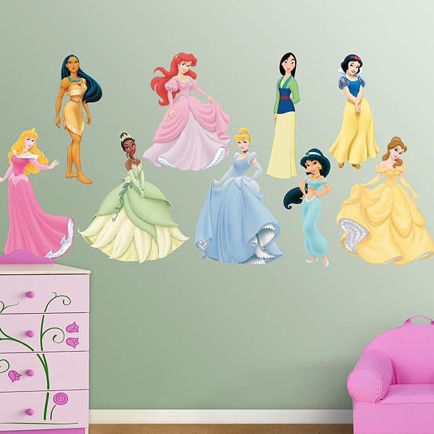 Disney princess collection fathead wall decal for Disney princess wall mural stickers