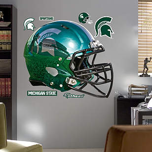 Michigan State Spartans Chrome Helmet