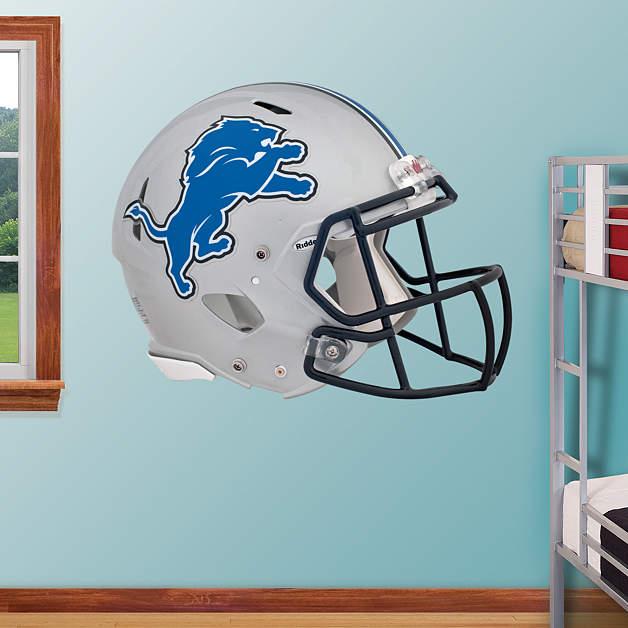 Detroit Lions Helmet Fathead Wall Decal