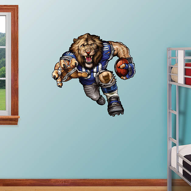 Lawless Lion Wall Decal Shop Fathead For Detroit Lions