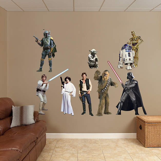 Star Wars Original Trilogy Characters Collection Fathead Wall Decal
