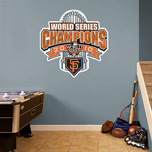 San Francisco Giants 2010 World Series Champions Official Club House Logo