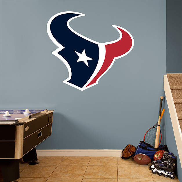 Houston texans logo wall decal shop fathead for houston for 49ers wall mural
