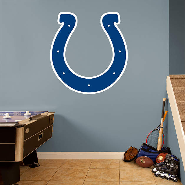 Indianapolis colts logo wall decal shop fathead for for Colts bedroom ideas