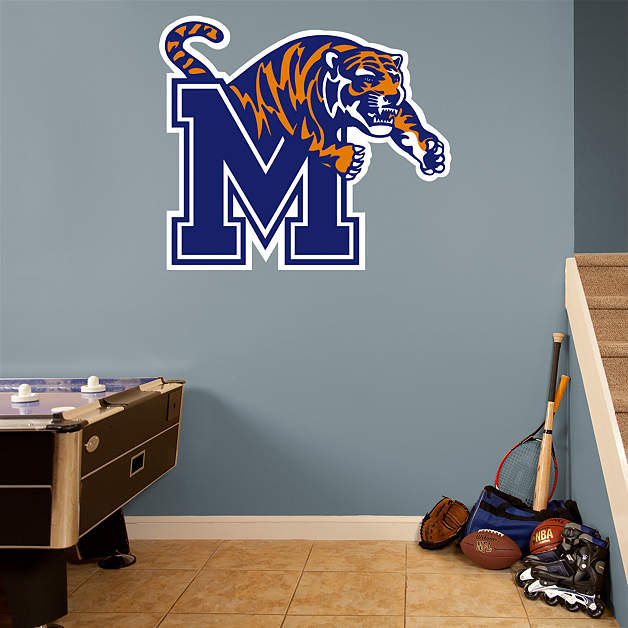 Memphis tigers logo wall decal shop fathead for memphis Home decor stores memphis tn
