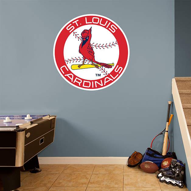 st louis cardinals classic logo fathead wall decal. Black Bedroom Furniture Sets. Home Design Ideas