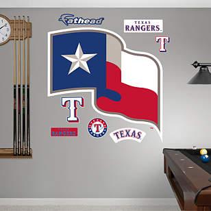 Texas Rangers Flag Logo