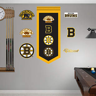 Boston Bruins Logo Evolution Banner