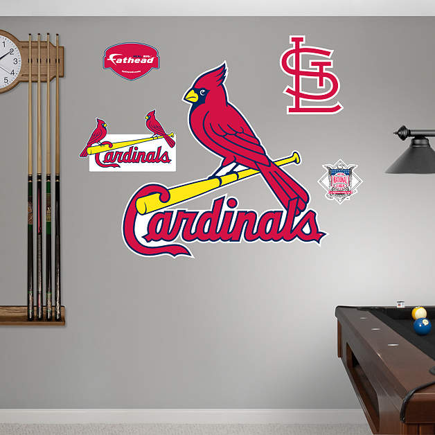 st louis cardinals logo wall decal shop fathead for st. Black Bedroom Furniture Sets. Home Design Ideas