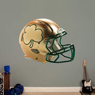 Notre Dame 2013 Gold Shamrock Helmet