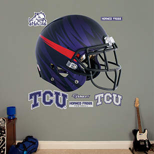 TCU Horned Frogs Bleeding Eyes Helmet