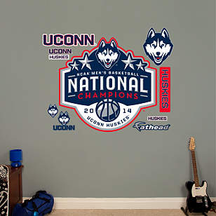 UConn Huskies 2014 NCAA Men's Basketball Champions Logo
