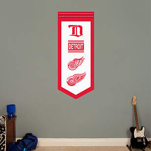 Detroit Red Wings Logo Evolution Banner