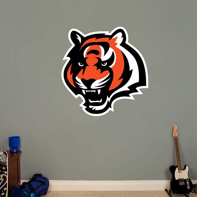 Cincinnati bengals logo wall decal shop fathead for for Bengals bedroom ideas