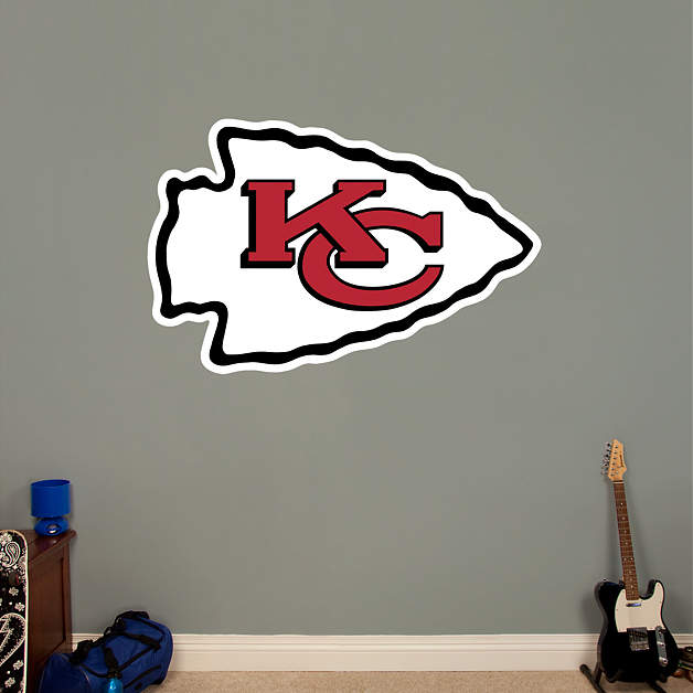Kansas city chiefs logo wall decal shop fathead for for Home decor kansas city