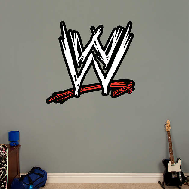 wwe logo wall decal shop fatheadr for wwe decor With cool wwe wall decals