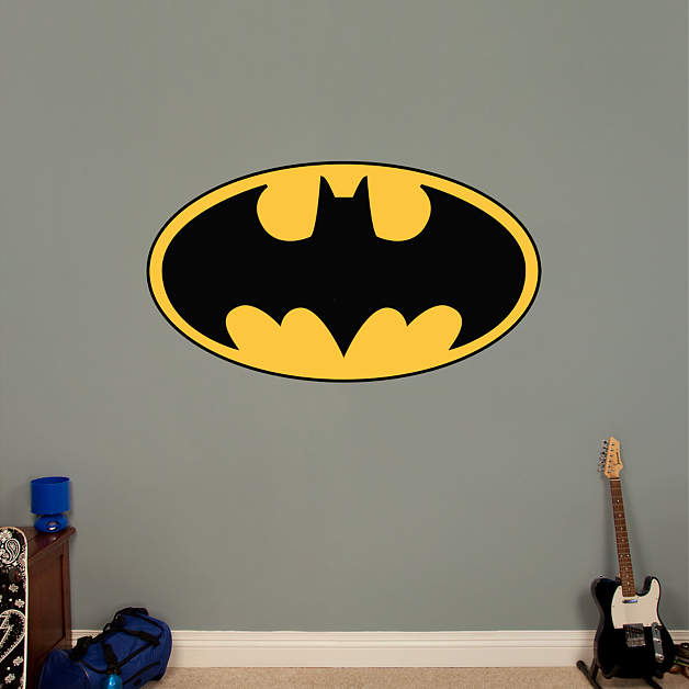 Batman logo fathead wall decal for Batman wall mural decal