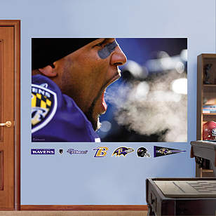 Ray Lewis Scream - In Your Face Mural