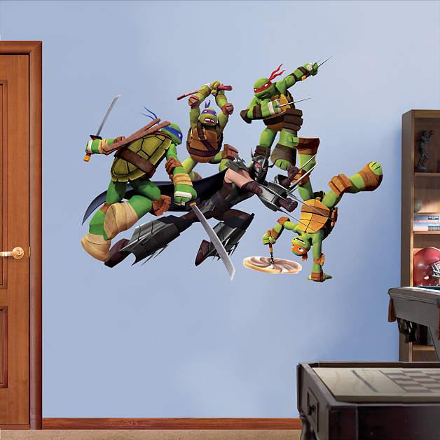Teenage Mutant Ninja Turtles Shredder Battle Fathead Wall