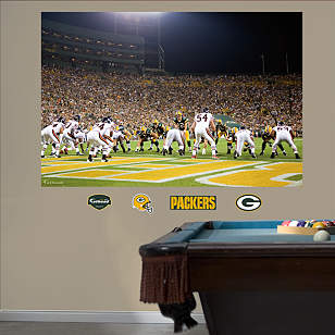 Packers-Bears End Zone Mural