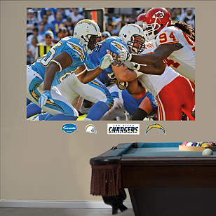 Chargers-Chiefs Line of Scrimmage Mural