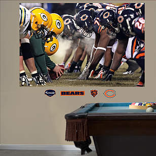Bears-Packers Line of Scrimmage Mural