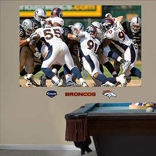 Broncos Defense In Your Face Mural