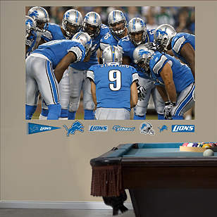 Lions Huddle In Your Face Mural