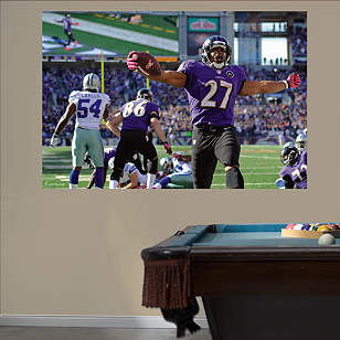 Ray Rice Touchdown Celebration - In Your Face Mural