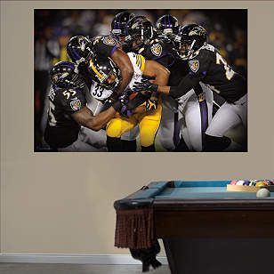 Baltimore Ravens Defense Swarm Mural